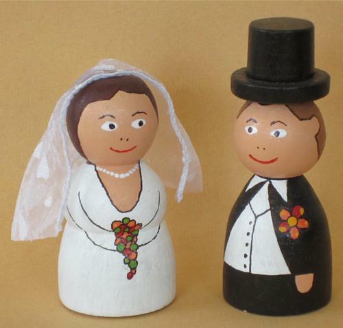 Gedrechseltes Brautpaar