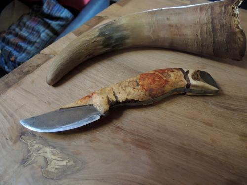 Suminagashi Steel Full-tang Blade